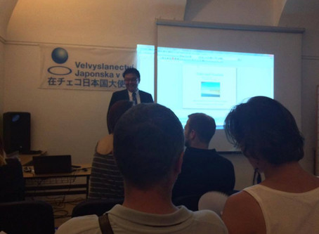 Last year's presentation at Japanese Information and culture center in Prague