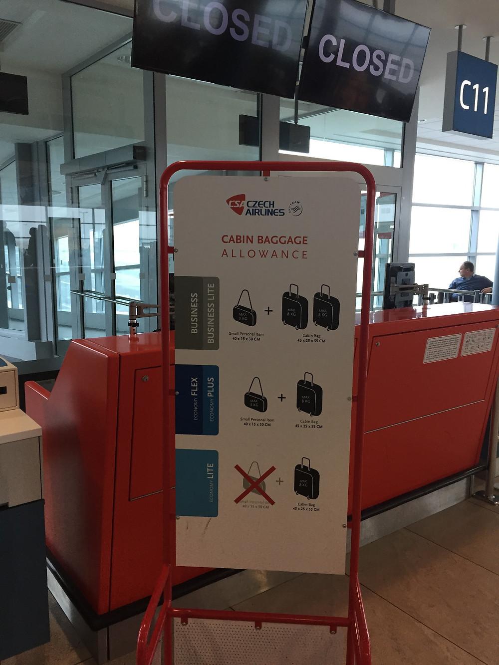 Cabin Baggage Allowance