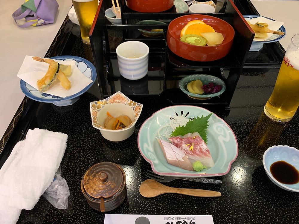 Dinner at ryokan
