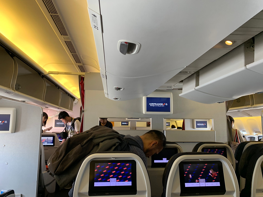 Cabin of Air France