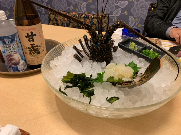 Sashimi of Japanese spiny lobster