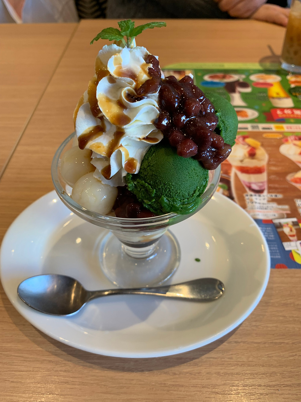 Matcha shiratama mini parfait at Denny's