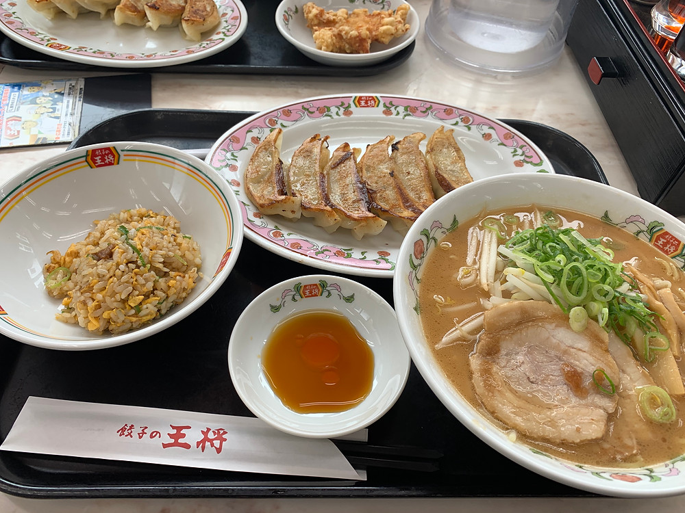 Ramen combo with small fried rice and gyoza dumplings