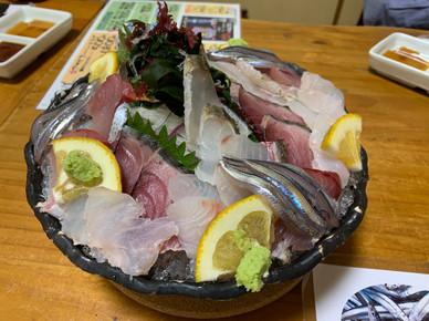 Sashimi at restaurant Ichijo