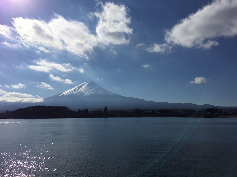Lake Kawaguchi and Mt.Fuji