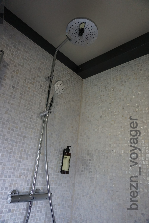 Hier die Dusche