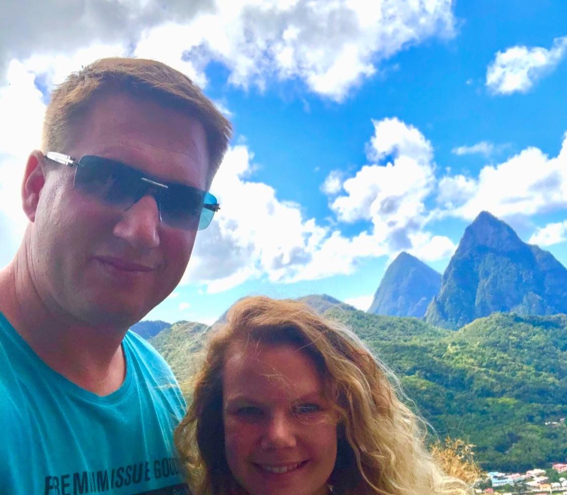 Die Pitons das Wahrzeichen von St. Lucia