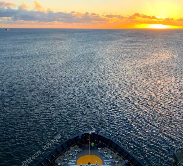 Sonnenuntergang Karibik Kreuzfahrt