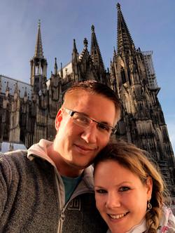 Bild vorm dem Kölner Dom