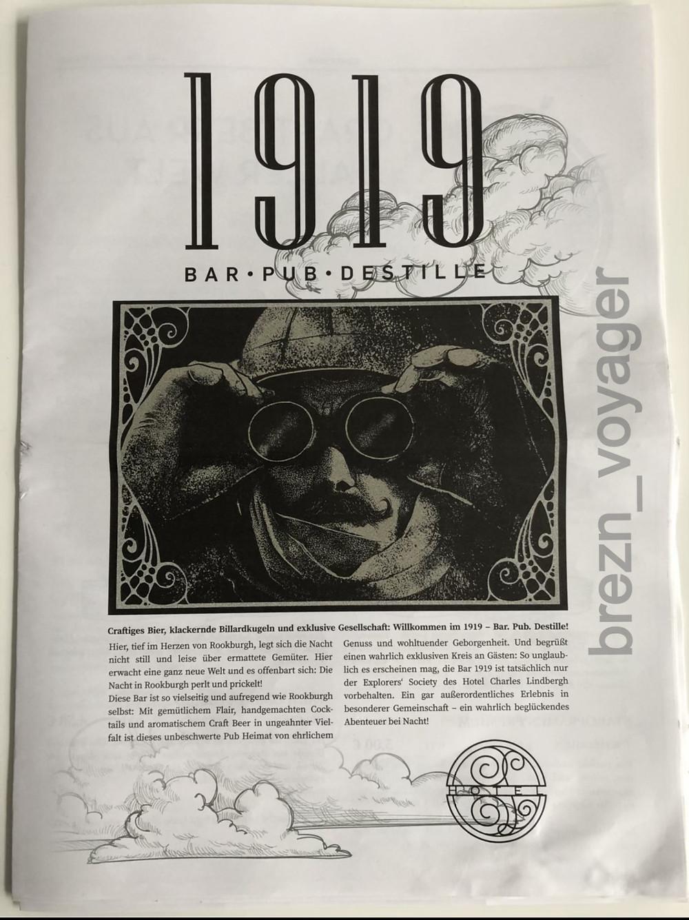 Titelblatt der Zeitung für die Bar