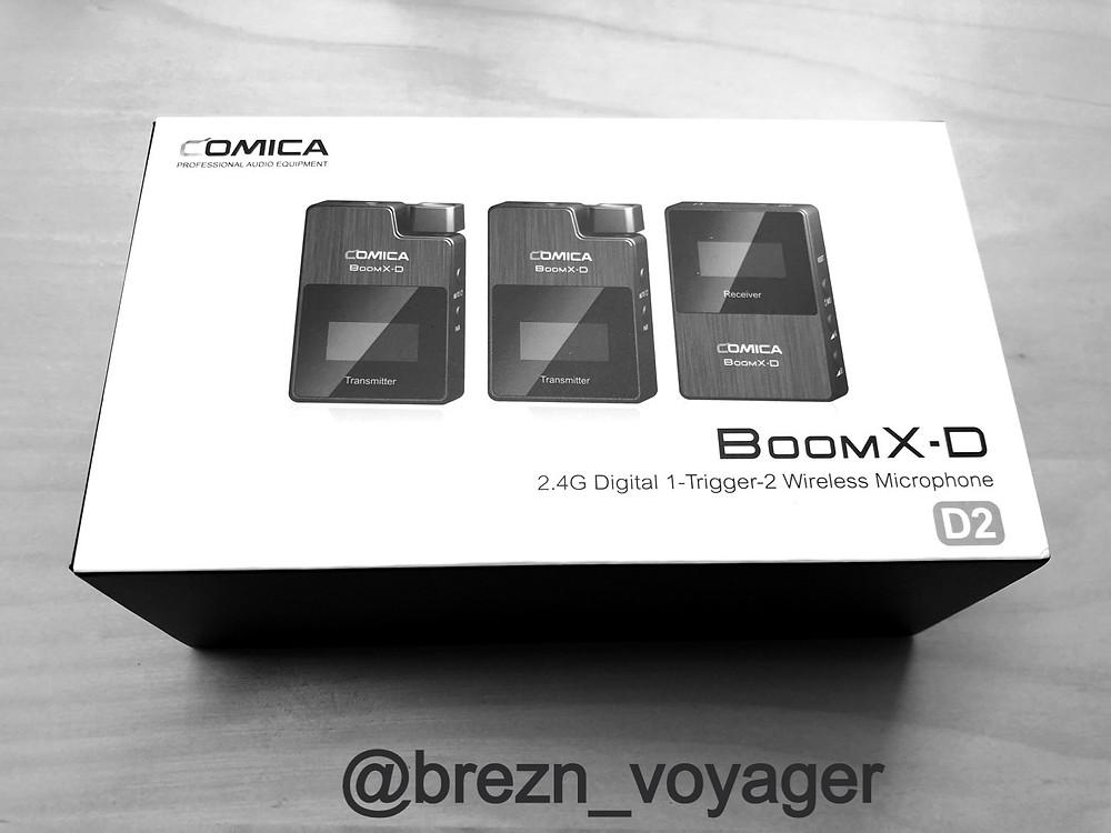 Die noch geschlossene Verpackung der Boom X-D2 Mikrofone
