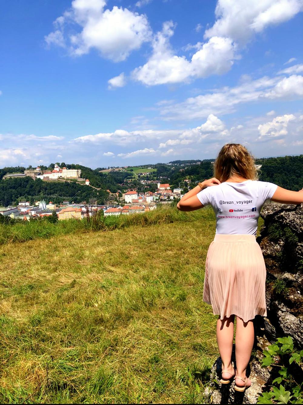Ausblick auf Passau vom Stephanskreuz auf dem Hamberg