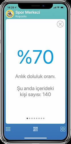 GymPro Mobile doluluk oranı