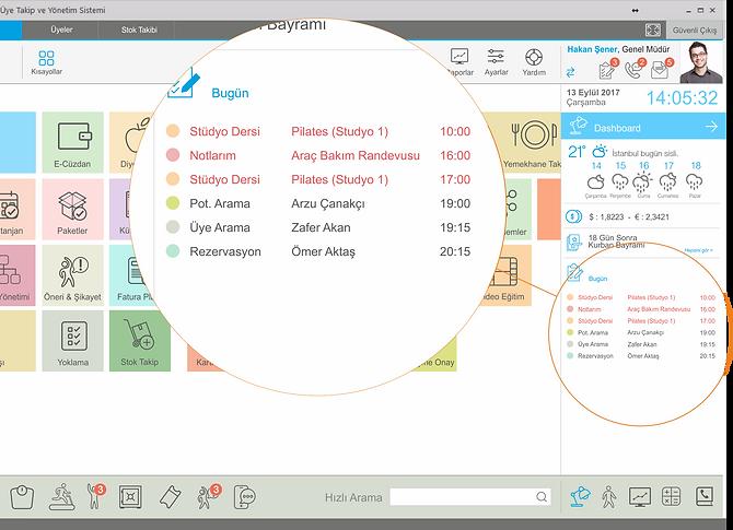 GymPro 7 Dashboard