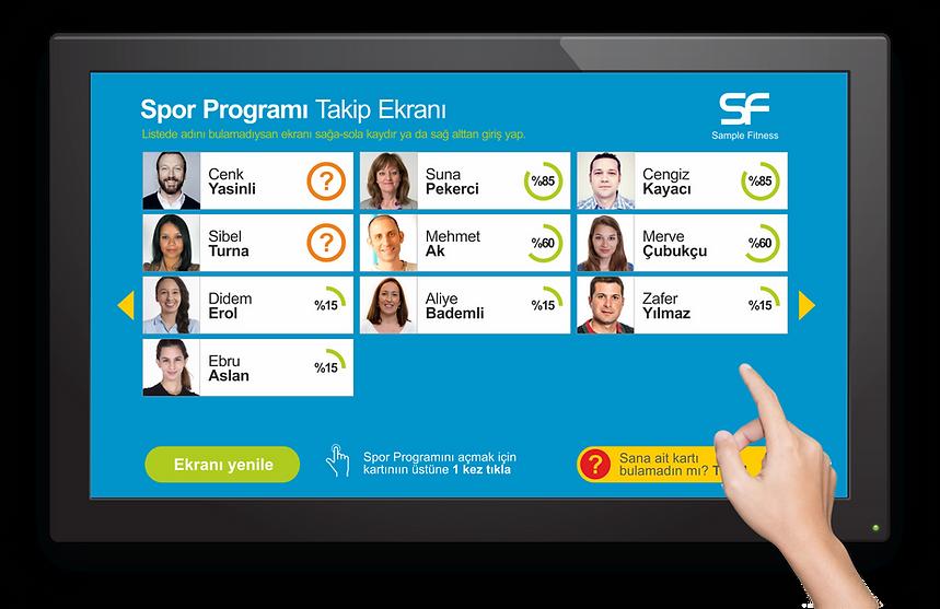 GymPro Spor Programı Takip Ekranı