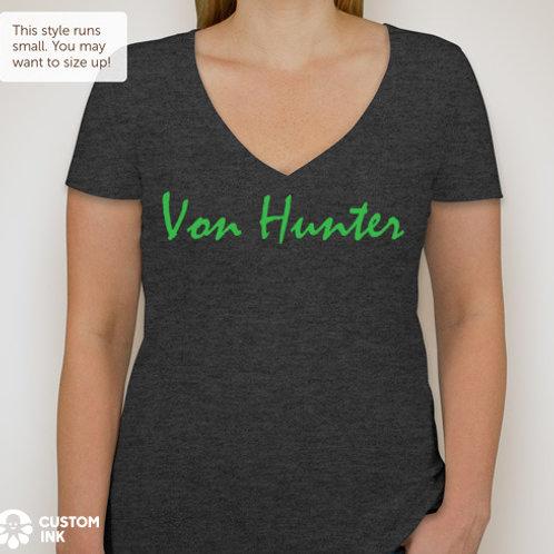 Von Hunter Women's Deep V-neck