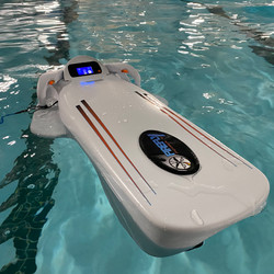 Electric body board at the pool