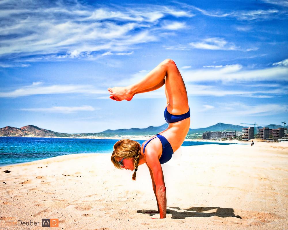 Cary Deuber beach yoga