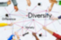 many hands drawing lines to connect the words Diversity, Difference, and Variety