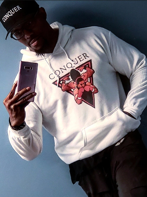 CONQUER Hood Sweaters White, Black