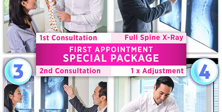 Spinal Health Screening Package: Consultation+X-Ray+1xAdjustmt [100AM]