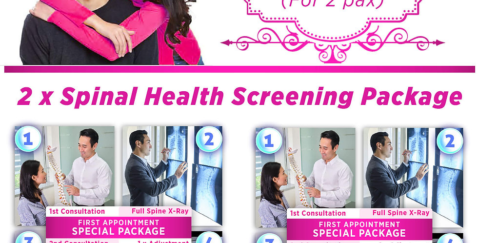 Spinal Health Screening Package - Deal A (For 2 pax)