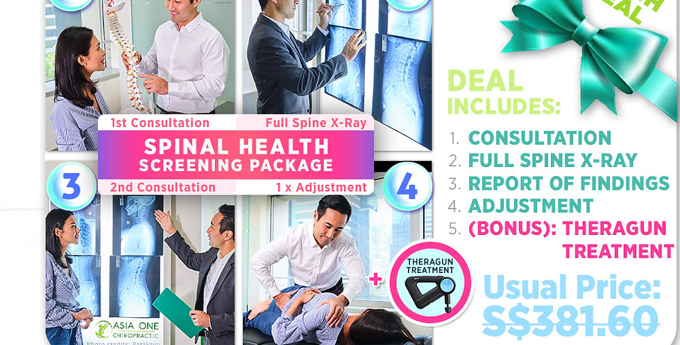 Spinal Health Screening Package: Consultation+X-Ray+1xAdjustment[FLASH]
