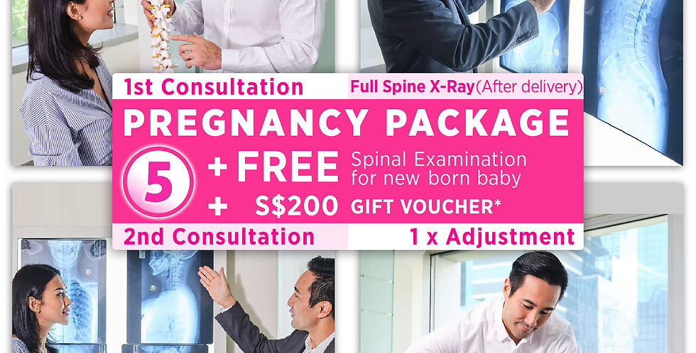 Pregnancy Package:Consultation+X-Ray(After delivery)+1xAdjustment+Gift Voucher