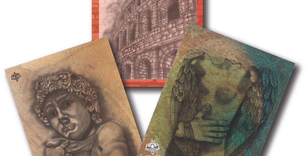 Italy - Pack of 3 Greeting Cards