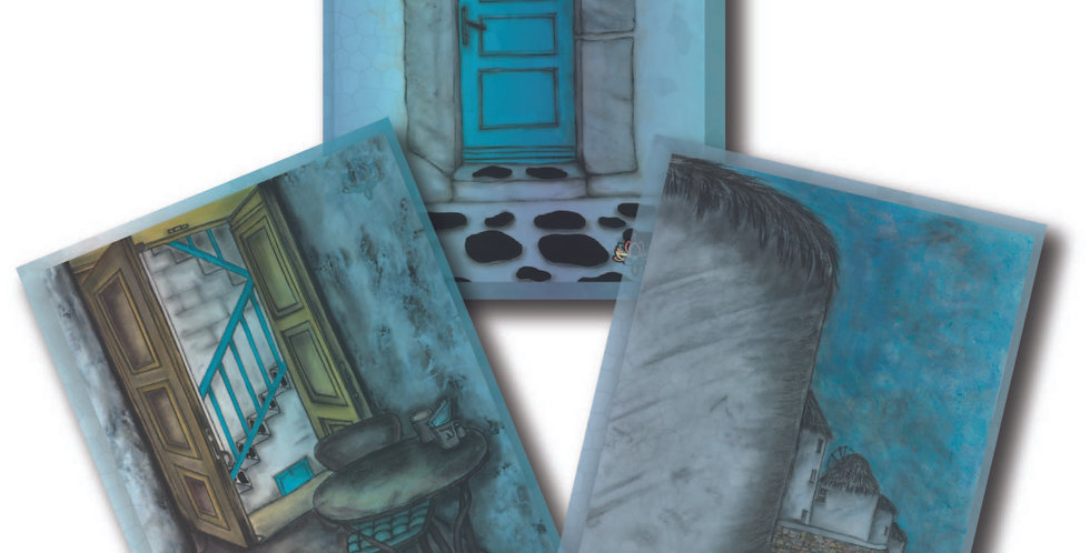 Mykonos - Pack of 3 Greeting Cards