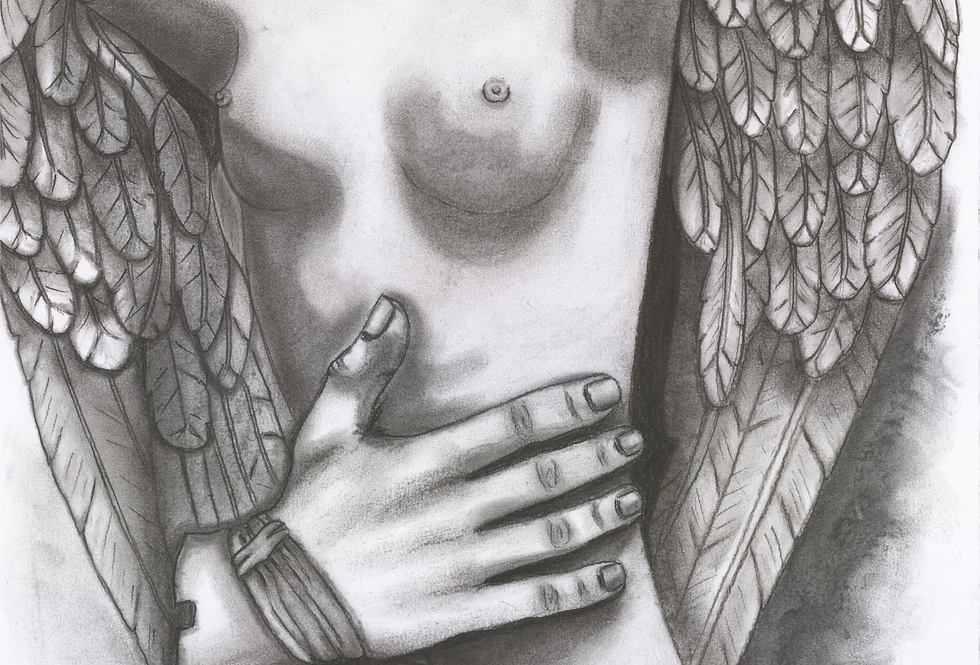 """Original and Prints - """"The Winged Lady"""""""