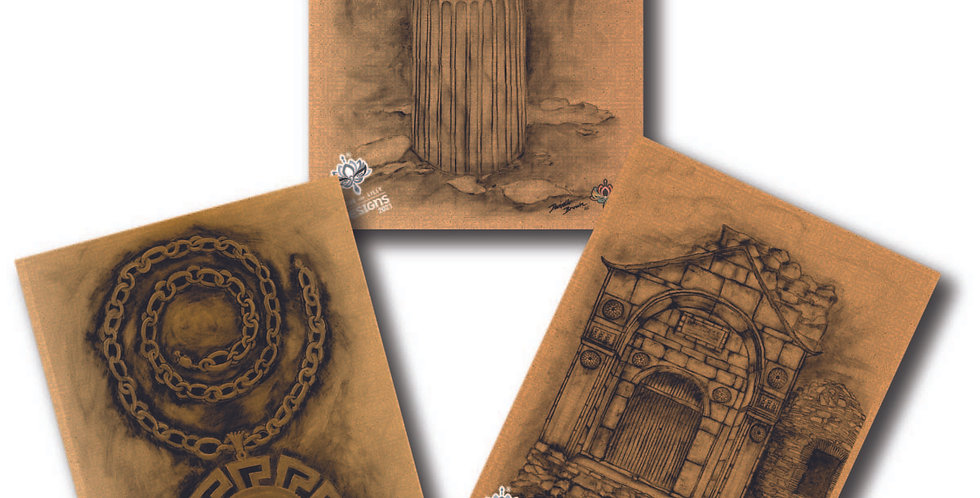 Ancient Athens - Pack of 3 Greeting Cards
