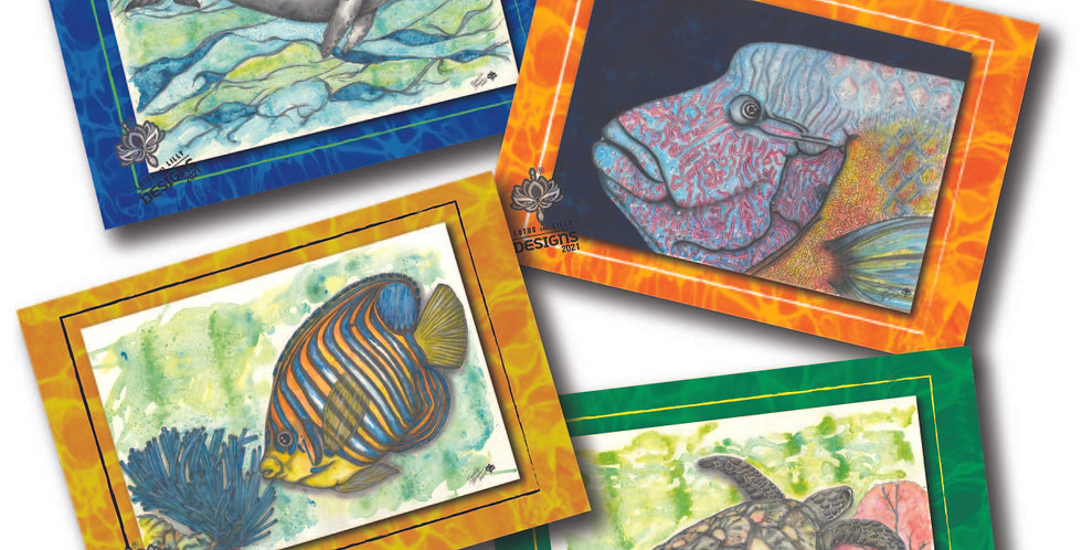 Great Barrier Reef - Pack of 4 Greeting Cards