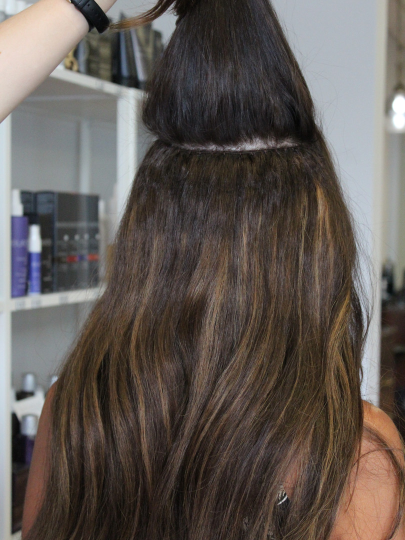 Beaded Weft Extensions for Curly Hair and Full Color with Balayage