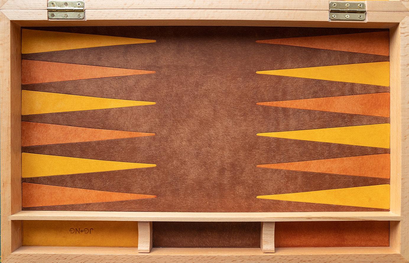 Leather Backgammon Board Game