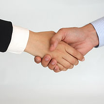 Handshake, agreement, partnership.