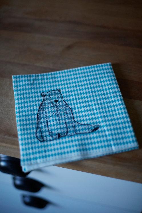 bear dishcloth