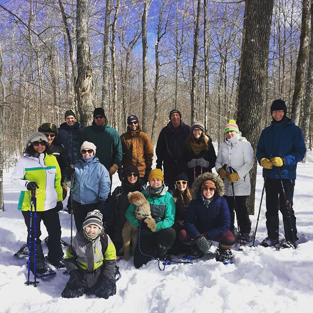 Beardsley Hill snowshoeing crew! #explore #learn #outdoorart
