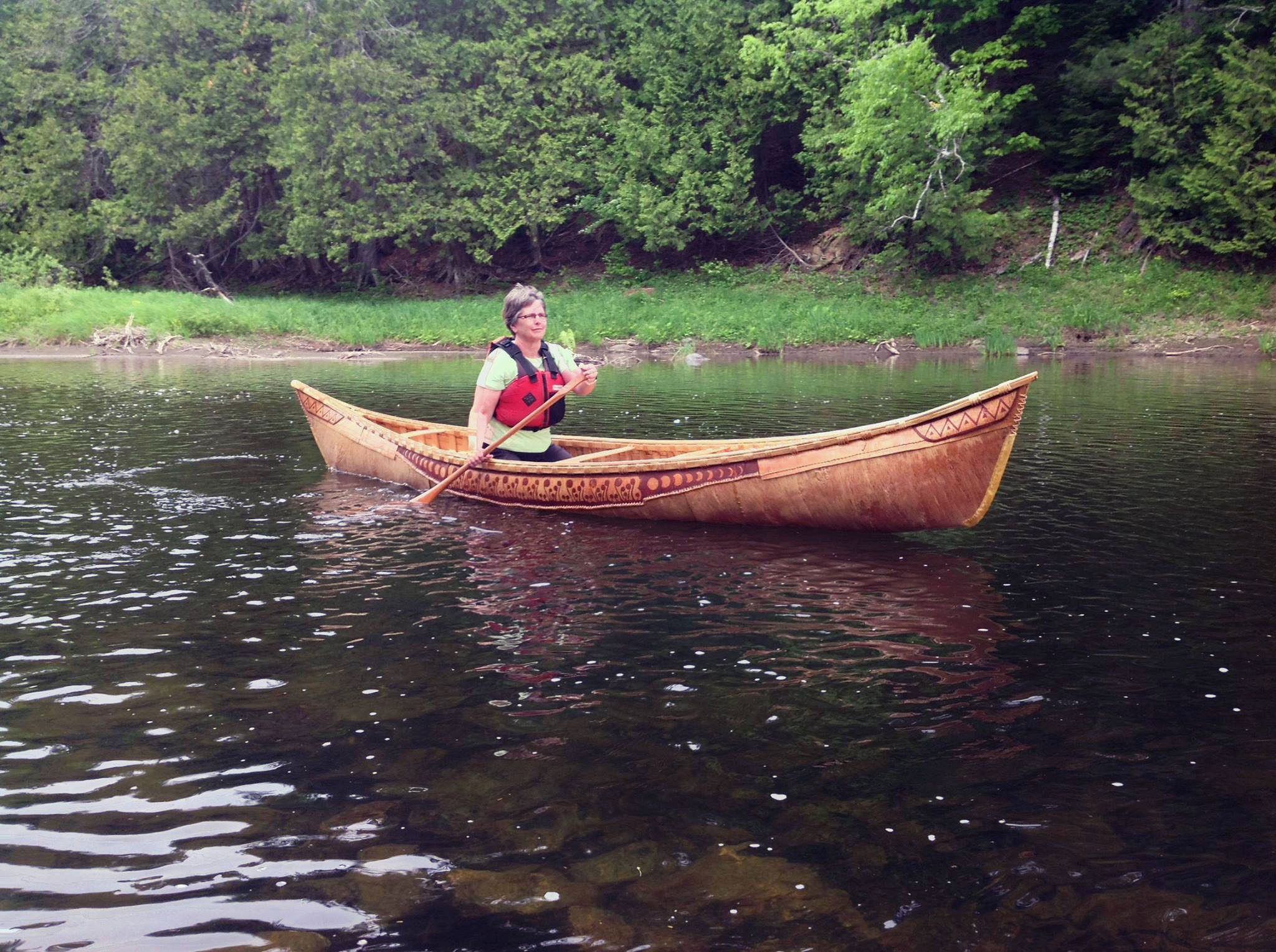 Birch bark canoe on the Meduxnekeag