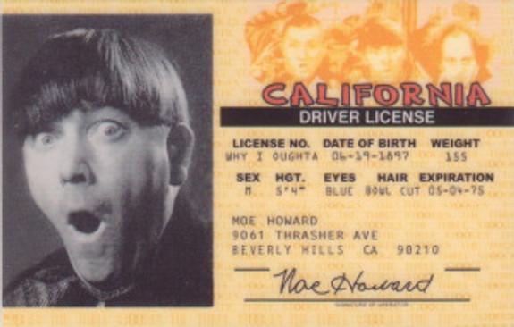 Moe drivers license