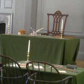 ~ The Chair used for the Signing of the Declaration of Independence