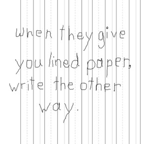~ Lined paper