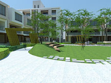 Arvind Realty is developing a premier residential community at Bangalore, designed by HOK as architects. The large plot shall be completely vehicle free, with large pedestrian areas devoted to recreational, sports and community amenities, having low fencing to give an inclusive feeling, and a homely atmosphere.