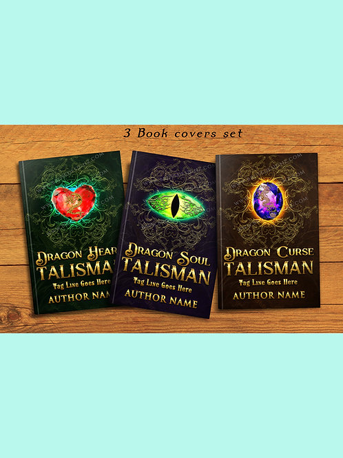 The Dragon Talismans 3 book covers Set