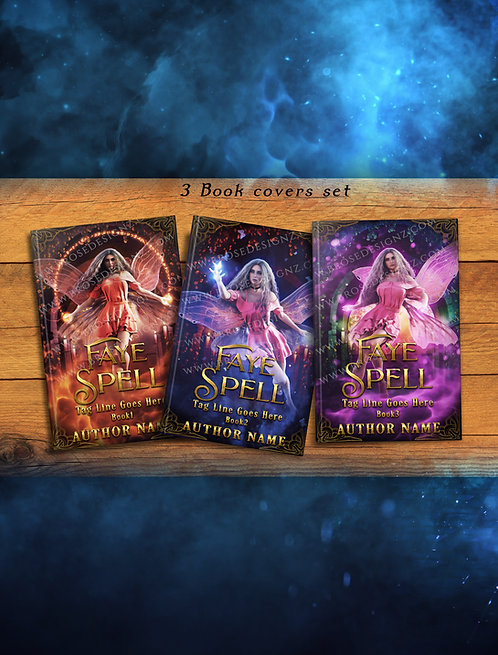 Faye spell  3 book covers Set