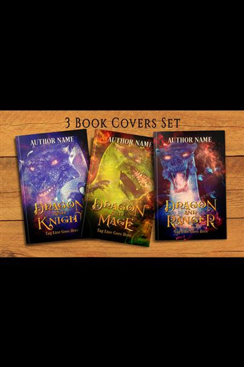 Dragon 3 book covers set New
