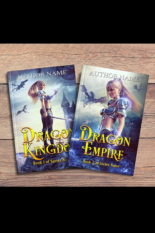 Dragon Kingdom 2 book covers set