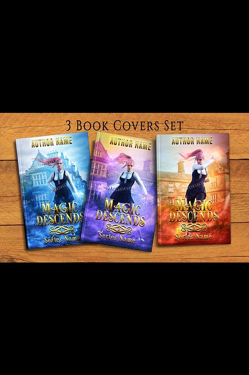 Magic Descends 3 book covers set