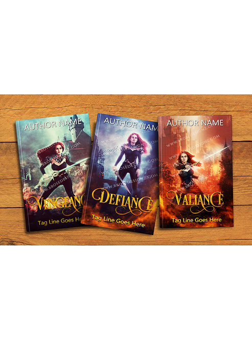 3 Book covers set