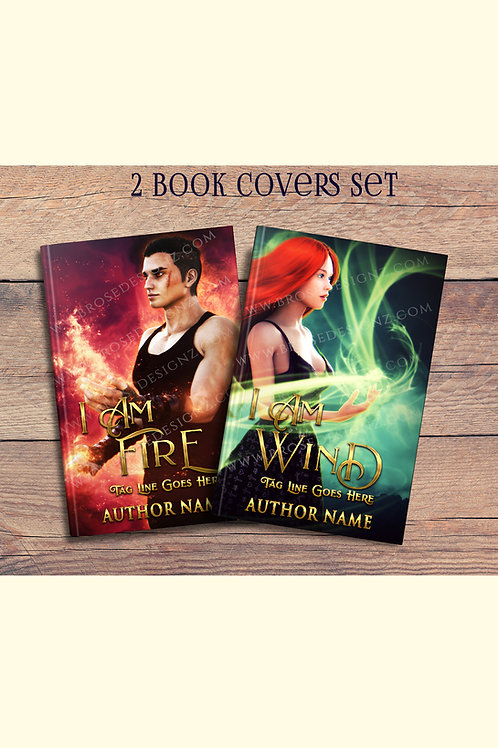 Fire and Wind 2 Book covers set